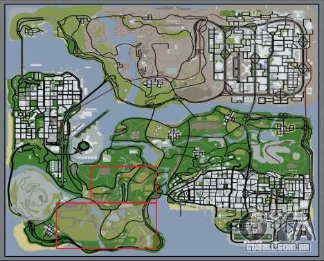 A densa floresta v2 para GTA San Andreas sétima tela