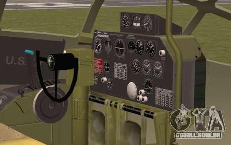 B-29A Superfortress para vista lateral GTA San Andreas