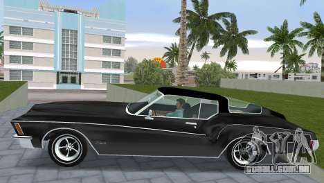 Buick Riviera 1972 Boattail para GTA Vice City vista traseira esquerda