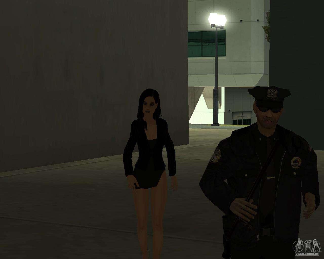 Black Dressed Girl for GTA San Andreas