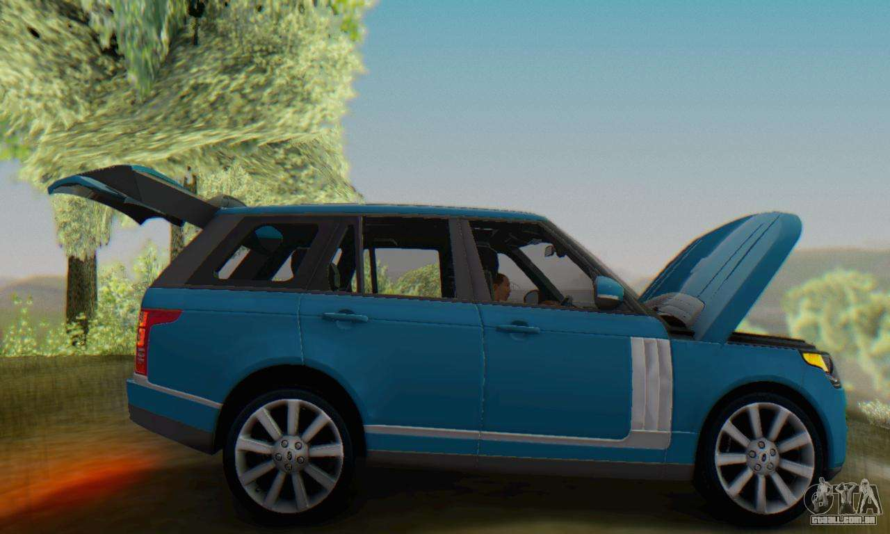 range rover vogue 2014 v1 0 interior nero para gta san andreas. Black Bedroom Furniture Sets. Home Design Ideas