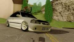 Honda Civic ek Coupe Hellaflush