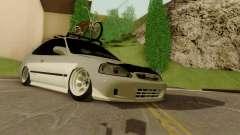 Honda Civic ek Coupe Hellaflush para GTA San Andreas