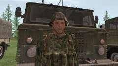 O lutador do exército russo