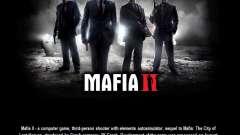 Tela de inicialização do Mafia II