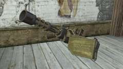 A metralhadora giratória, com uma loja