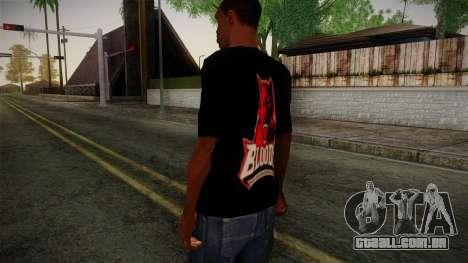 Bloods T-Shirt para GTA San Andreas segunda tela