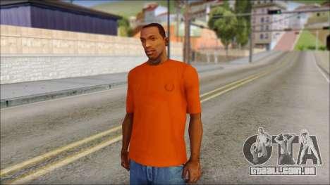 Fred Perry T-Shirt Orange para GTA San Andreas