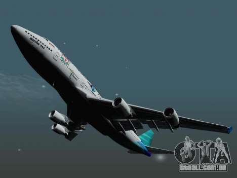 Boeing 747-400, Garuda Indonesia para GTA San Andreas vista direita