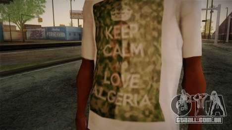 Keep Calm and Love Shirt para GTA San Andreas terceira tela