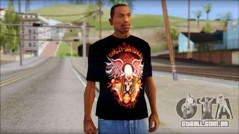 Harley Davidson Black T-Shirt para GTA San Andreas
