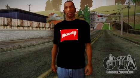 Bloods T-Shirt para GTA San Andreas