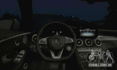 Mercedes-Benz C250 2014 V1.0 EU Plate para GTA San Andreas vista traseira