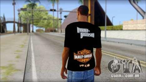 Harley Davidson Black T-Shirt para GTA San Andreas segunda tela