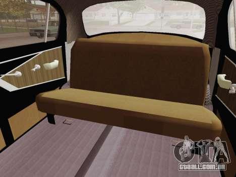 GAZ 21 de Limusina para GTA San Andreas vista interior