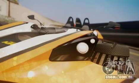 KTM X-Bow R 2011 para GTA San Andreas vista traseira