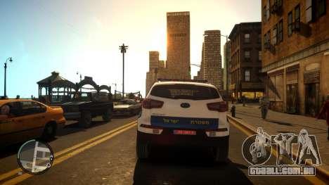 Kia Sportage Israel Police car (Mishtara) para GTA 4 vista direita
