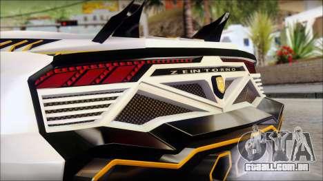 Pegassi Zentorno from GTA 5 v3 para GTA San Andreas traseira esquerda vista