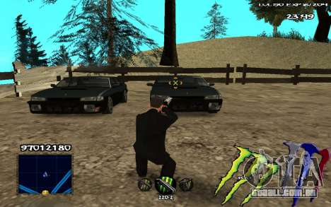 C-HUD Monster Energy para GTA San Andreas terceira tela