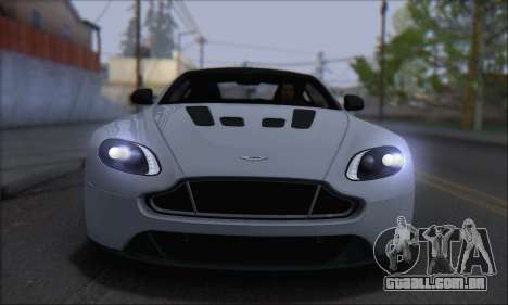 Aston Martin V12 Vantage S 2013 para GTA San Andreas traseira esquerda vista