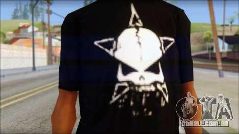 Infected Rain T-Shirt para GTA San Andreas terceira tela