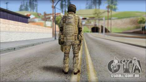 Forest SFOD from Soldier Front 2 para GTA San Andreas segunda tela