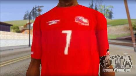 Seleccion Chilena T-Shirt 2010 para GTA San Andreas terceira tela
