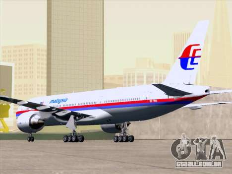 Boeing 777-2H6ER Malaysia Airlines para o motor de GTA San Andreas