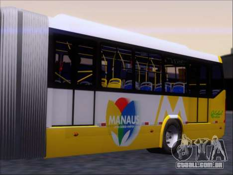 Прицеп Neobus Mega BHNS Volvo B12-340M para GTA San Andreas traseira esquerda vista