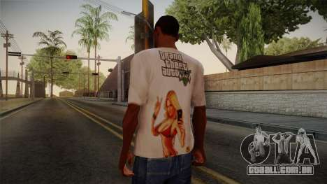 GTA 5 Hot Girl T-Shirt para GTA San Andreas segunda tela