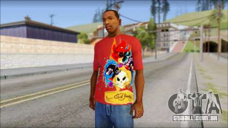 Ed Hardy Designer T-Shirt para GTA San Andreas