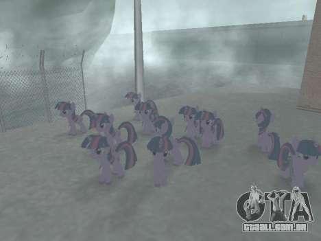 Twilight Sparkle para GTA San Andreas sexta tela