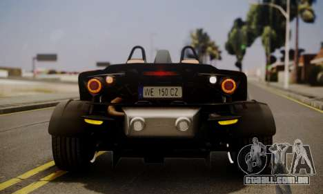 KTM X-Bow R 2011 para GTA San Andreas vista inferior
