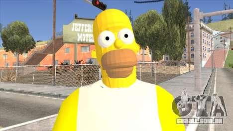 Homer Simpson Skin para GTA San Andreas terceira tela