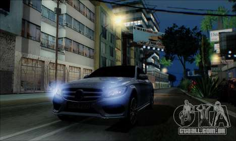 Mercedes-Benz C250 2014 V1.0 EU Plate para GTA San Andreas vista direita