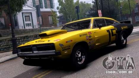 Dodge Charger RT 1969 EPM para GTA 4 vista de volta