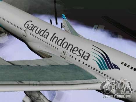 Boeing 747-400, Garuda Indonesia para GTA San Andreas traseira esquerda vista