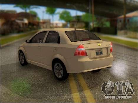 Chevrolet Aveo 2007 para GTA San Andreas esquerda vista