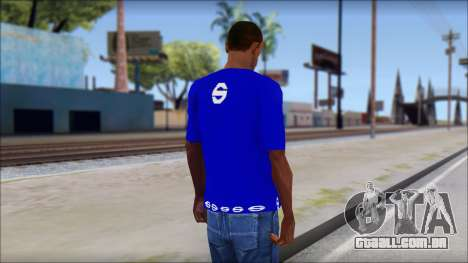Sparco T-Shirt para GTA San Andreas segunda tela