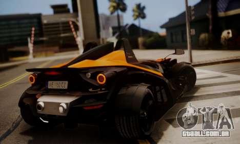 KTM X-Bow R 2011 para GTA San Andreas traseira esquerda vista
