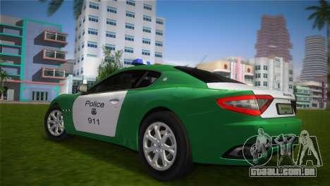 Maserati Granturismo Police para GTA Vice City deixou vista