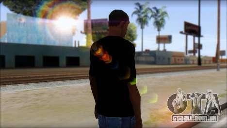 E Logo T-Shirt para GTA San Andreas segunda tela