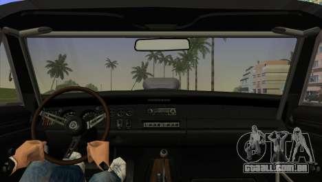 Dodge Charger RT Street Drag 1969 para GTA Vice City vista traseira esquerda