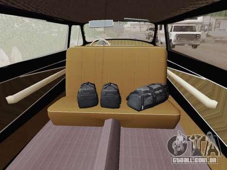 GAZ 21 de Limusina para GTA San Andreas vista traseira