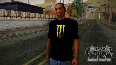 Monster Ripper Shirt Black para GTA San Andreas