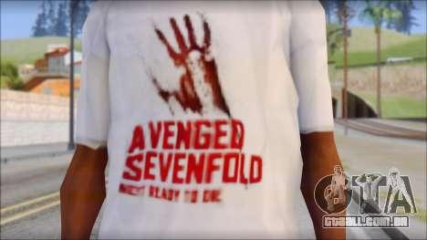 A7X Not Ready To Die Fan T-Shirt para GTA San Andreas terceira tela