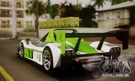 Radical SR8 Supersport 2010 para GTA San Andreas esquerda vista
