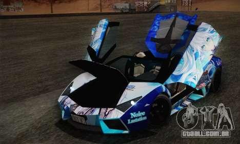 Lamborghini Reventon Black Heart Edition para vista lateral GTA San Andreas