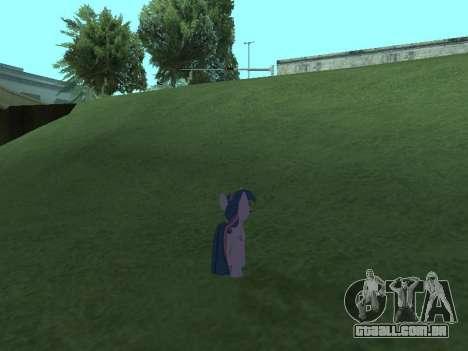 Twilight Sparkle para GTA San Andreas sétima tela
