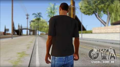 Chocolate T-Shirt para GTA San Andreas segunda tela